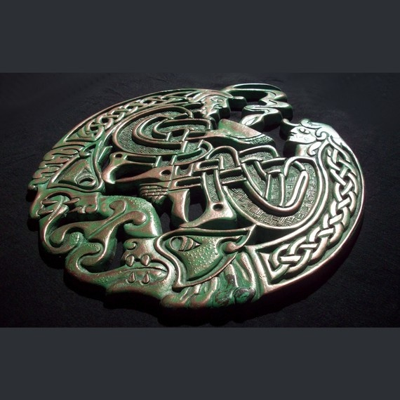 Celtic Love Plaque by GelertDesign on Etsy, £56.77