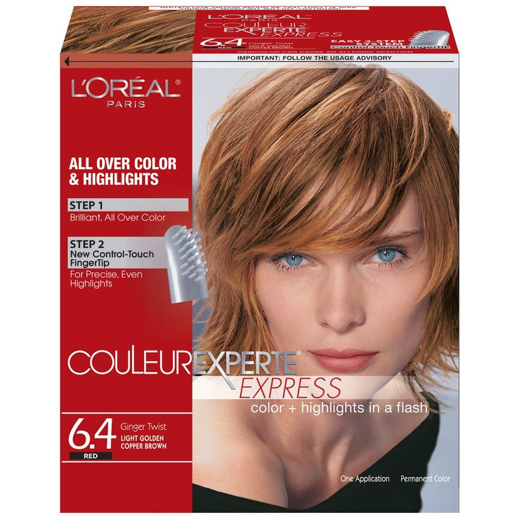 L Oreal Paris Couleur Experte Hair Color Hair Highlights Light Golden Copper Brown Ginger Twist 1 Kit Walmart Com In 2021 Hair Highlights Hair Color Colored Highlights
