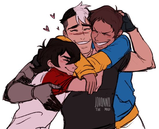 Keith and Lance cuddling daddy