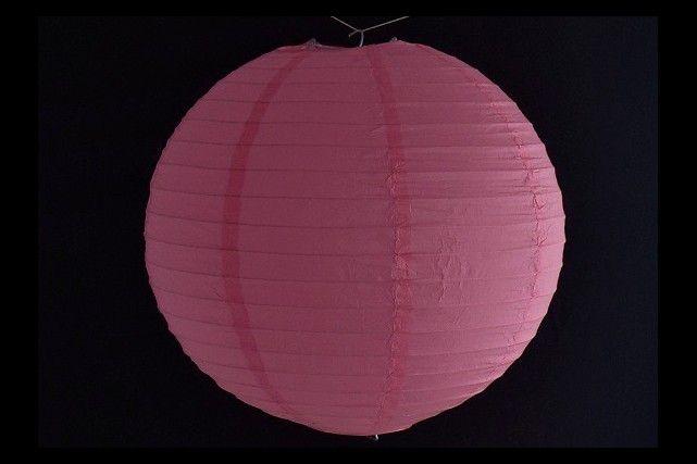 Lanterna di carta di riso da appendere, colore Rosa 40 cm, con gancio.