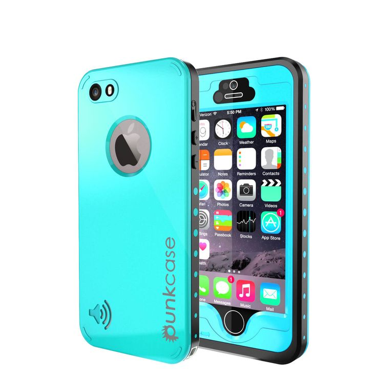 waterproof cases for iphone 5s iphone 5s 5 waterproof punkcase studstar teal 18177