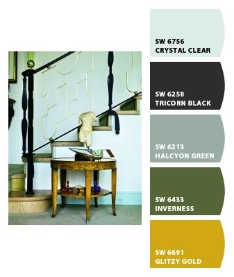 color palette gold green gray black - Green And Gold Color Scheme