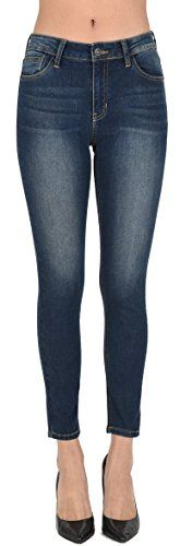 Just USA Jeans Women's High Rise Rusty Washed Ankle Skinny 0 DARK