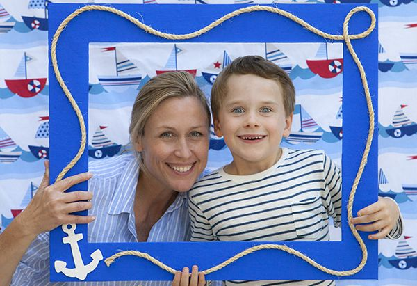 Create a fun Photo Booth by following these simple steps. Perfect for any party theme.