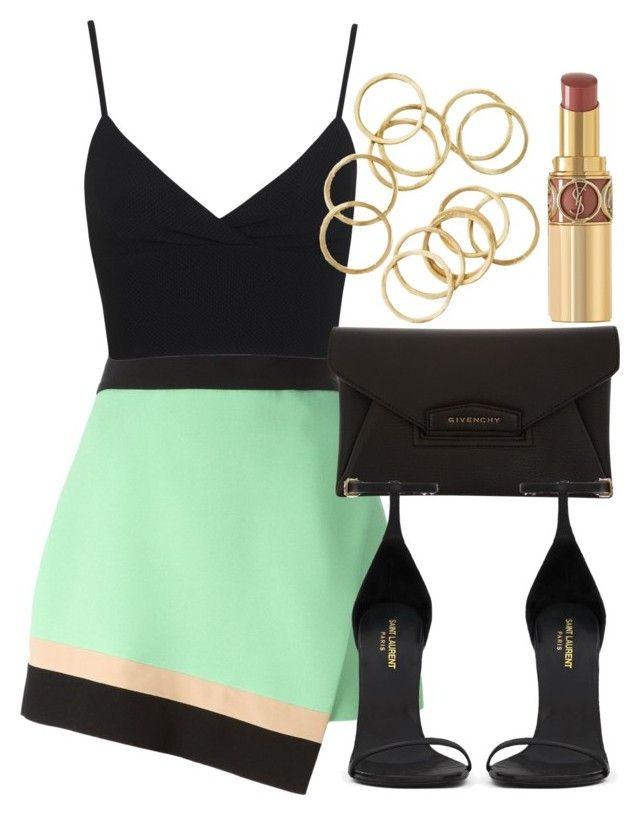 Style #8810 by vany-alvarado on Polyvore featuring polyvore, fashion, style, Miss Selfridge, FAUSTO PUGLISI, Yves Saint Laurent and Givenchy