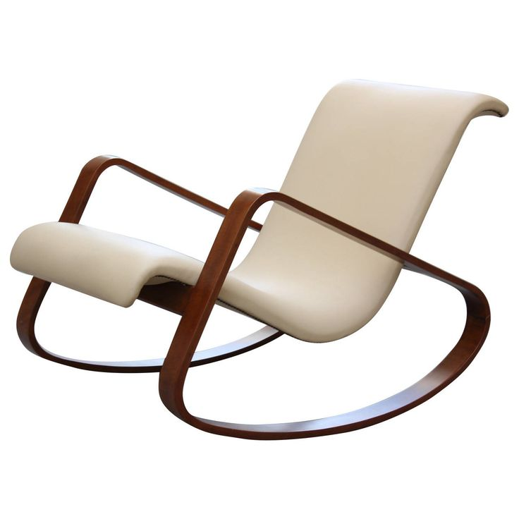 Italy Giuseppe Pagano Bentwood Leather Rocker. Easy ChairsSide ...
