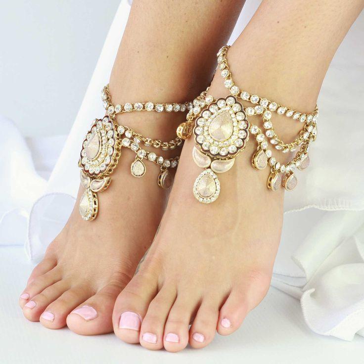 sandylandya@outlook.es Enchanted Gold Jewelled Anklets by Forever Soles | Forever Soles Bridal Shoes