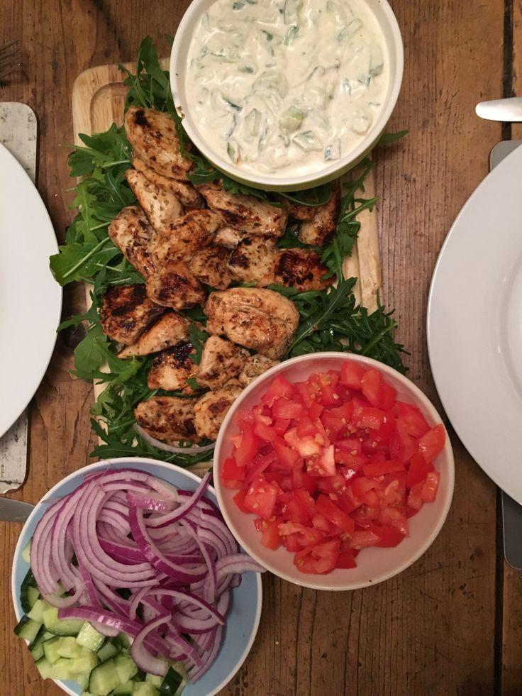 Greek Chicken Gyros with Tzatziki   everyday food