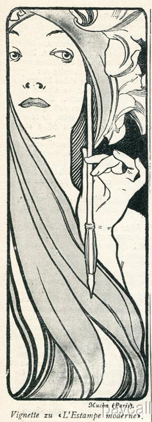 1897 art nouveau mucha print vignette lestampe moderne ebay