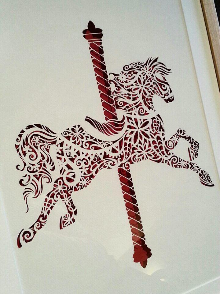 Carousel - Original Papercut   #papercut #handcut