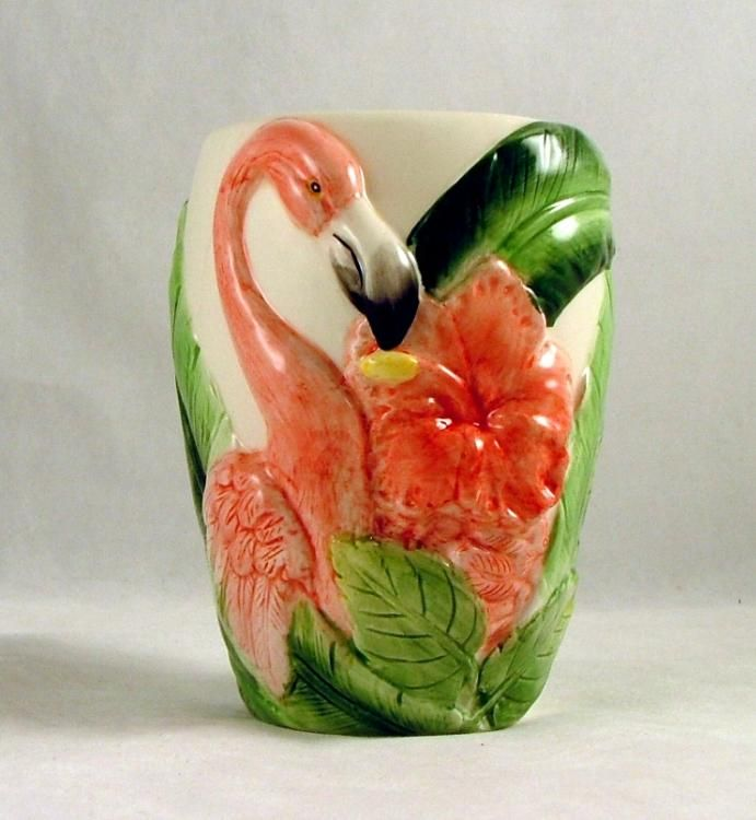 flamingo bathroom decor | Details about Tropical Pink Flamingo Tumbler Toothbrush Cup Holder