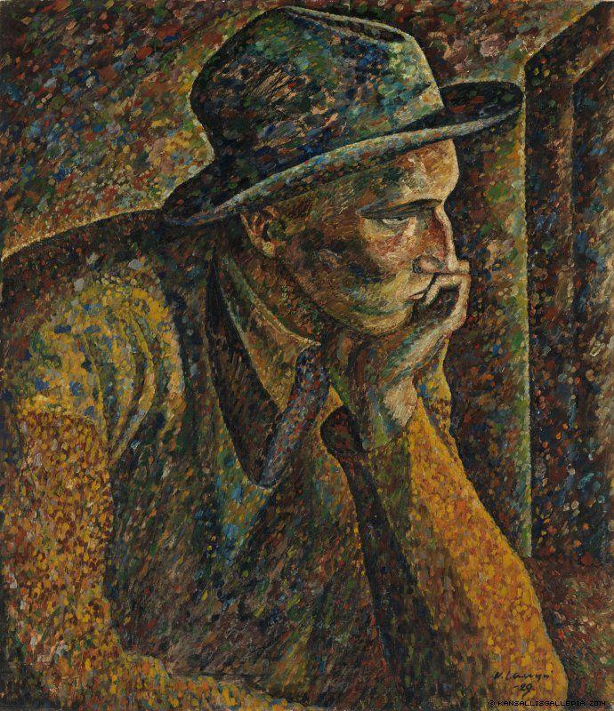 Vilho Lampi (1898-1936) Mietiskelijä / The Thinker 1929 - Finland