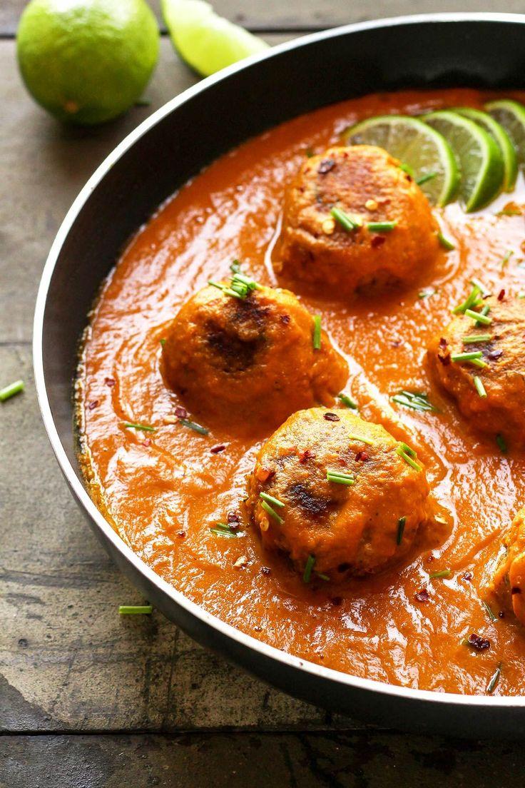 Veggie Balls in Rich Masala Sauce