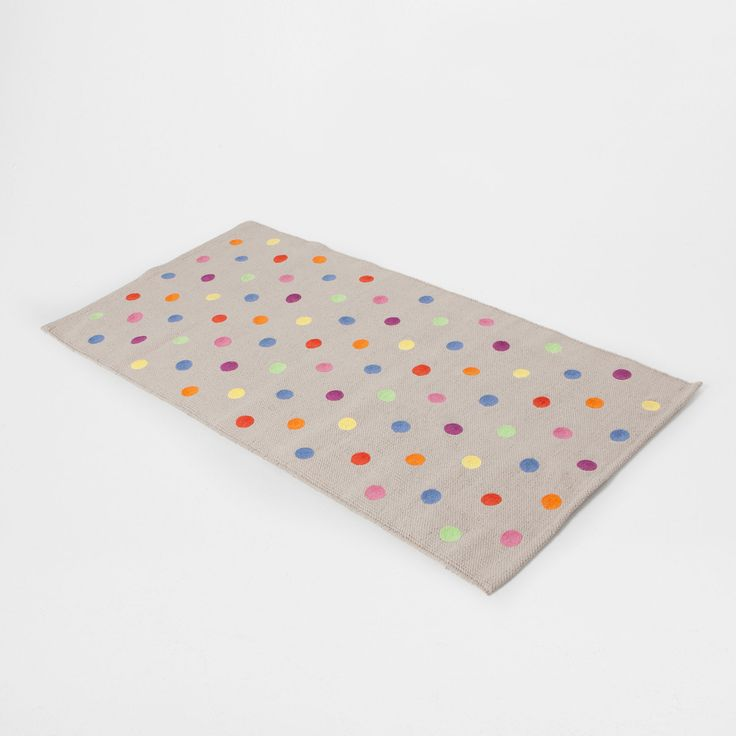 MULTICOLOURED DOTTED COTTON RUG - Rugs - Decoration | Zara Home Canada