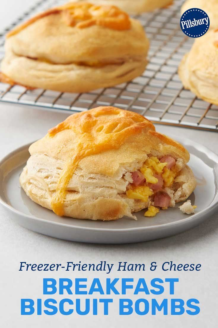 freezer friendly ham and cheese breakfast biscuit bombs recipe breakfast brunch recipes food breakfast biscuits freezer friendly ham and cheese breakfast biscuit bombs