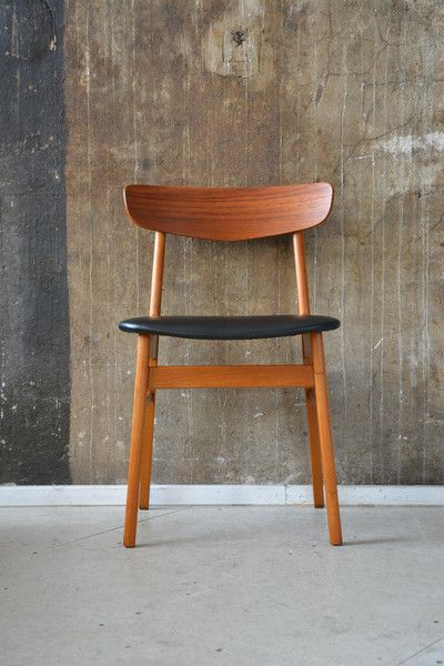 60er teak stuhl danish design 60s teakwood chair von for Stuhl design 60er