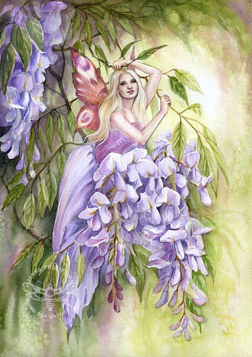 Wisteria Fairy by Janna Fairy Art