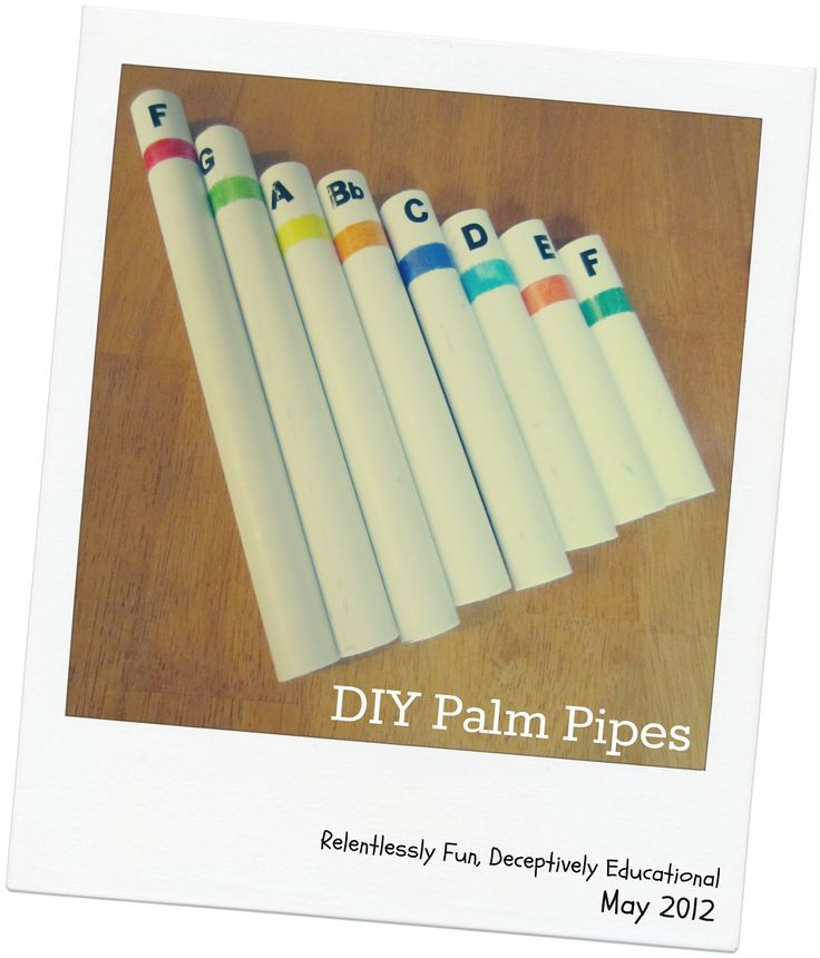 Relentlessly Fun, Deceptively Educational: DIY Palm Pipes
