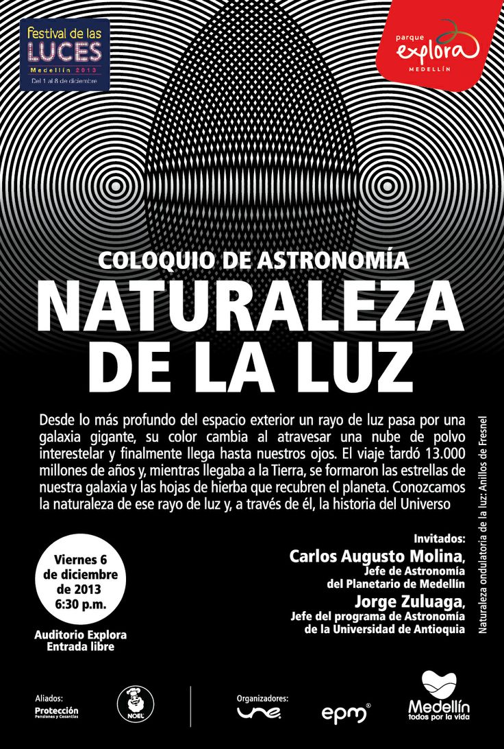 Naturaleza de la luz @coloquioastro