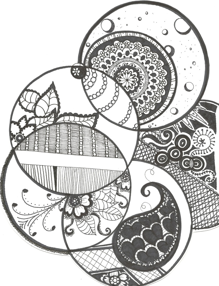 Circle Design Art : Best zentangle circles images on pinterest doodles