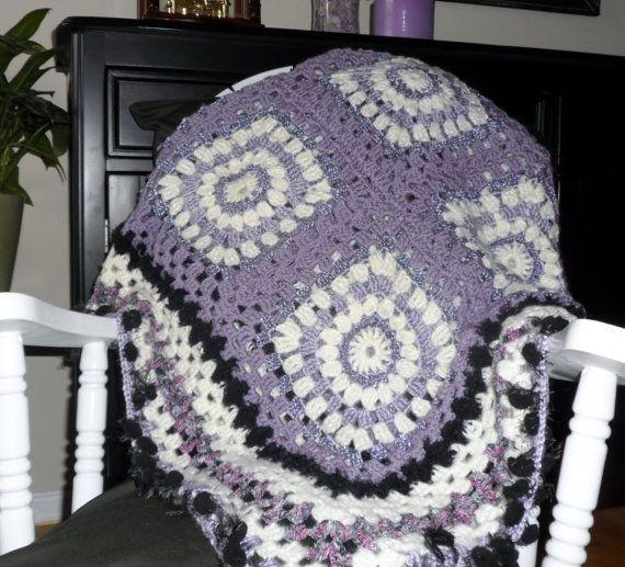 Crochet afghan afghan blanket throw settee by PattisPlaceinOntario