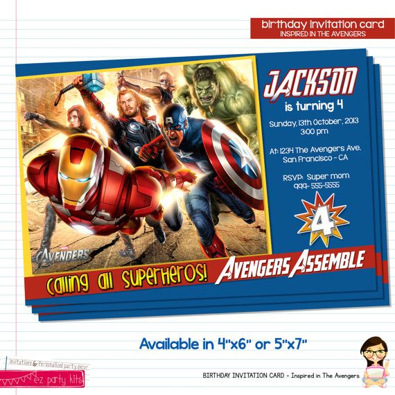 23 best images about Marvel Party – Marvel Party Invitations