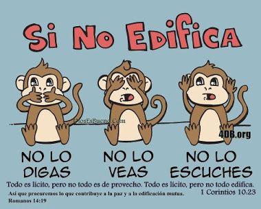"""Dile No A Lo Que No Edifica"" Que EL ETERNO te de entendimeiento en todo !!!  Shalom ! http://yahshuaeselmashiaj.blogspot.com/"