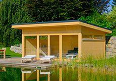 Modernes Gartenhaus Lido mit Pultdach https://www.hummel-blockhaus.de/produkte/typen-haeuser/gartenhaeuser/moderne-gartenhaeuser/lido/
