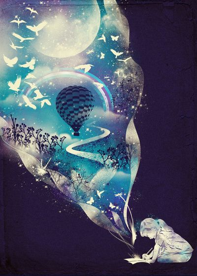 Dream Big by Dan Elijah G. Fajardo #society6. Love the whimsy of this print and the colors. :3 #casasugar: