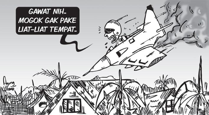 Opini-17Okt2012-Pesawat Tempur Mogok. #sketch #illustration #drawing