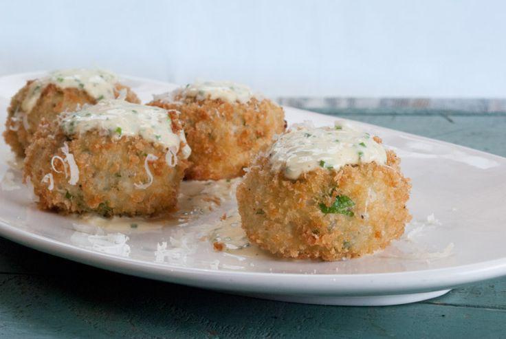 Crab Cakes with Orange Aioli