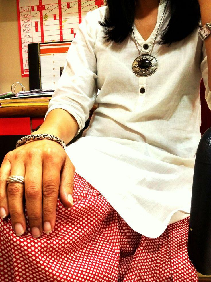 #CustomerOfTheDay #Zoyashi #RockThisLookWithZoyashi #SilverJewellery #EthnicWear #EthnivJewellery #Ethnic #Indian #OfficeWear