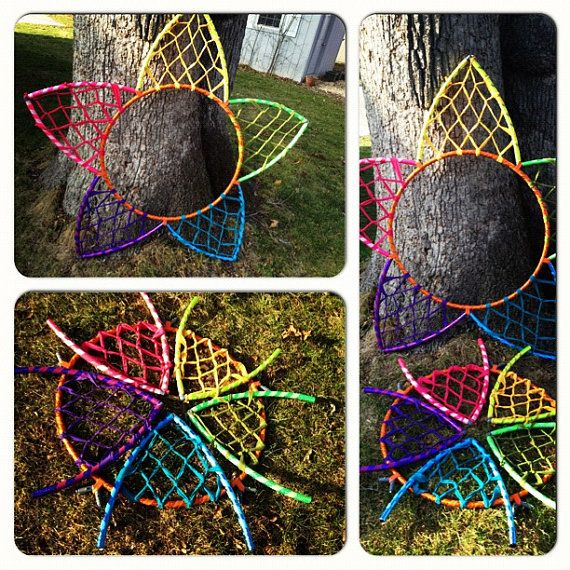 Collapsible Rainbow Star Hoop by FeatherHoops on Etsy, $85.00