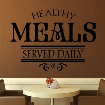 Healthy Meals Served Daily Wall Sticker Home And Living Art Decal