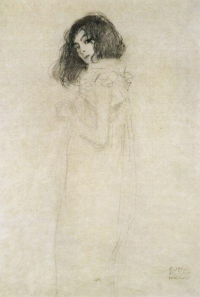 Gustav Klimt-Portrait d'une jeune femme