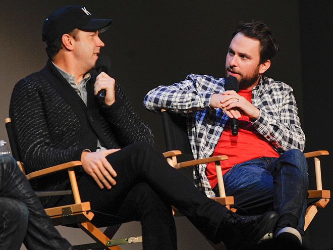 Star Tracks: Tuesday, November 18, 2014 | WHO'S THE BOSS? | Horrible Bosses 2 stars Jason Sudeikis and Charlie Day get up close and personal during a Q&A at the Apple Store SoHo on Monday in New York City.
