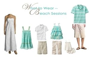family beach photos, what to wear - similar, but not the same