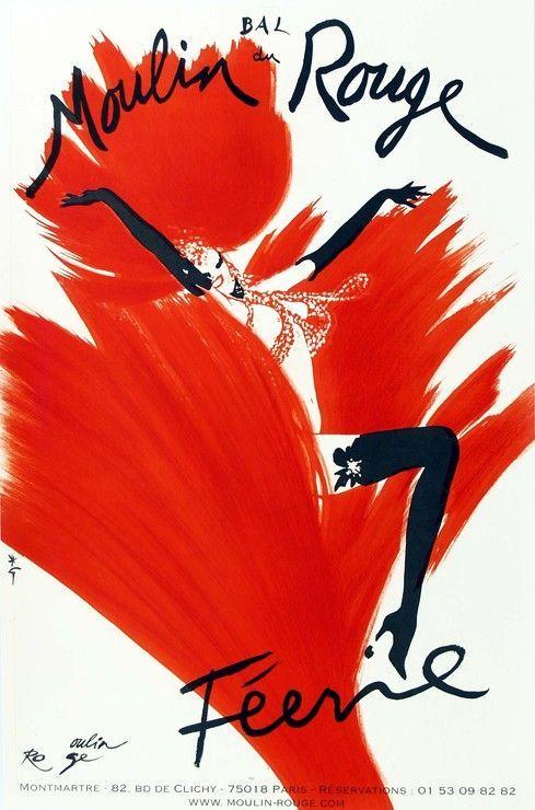 Féerie Bal Du Moulin Rouge by René Gruau