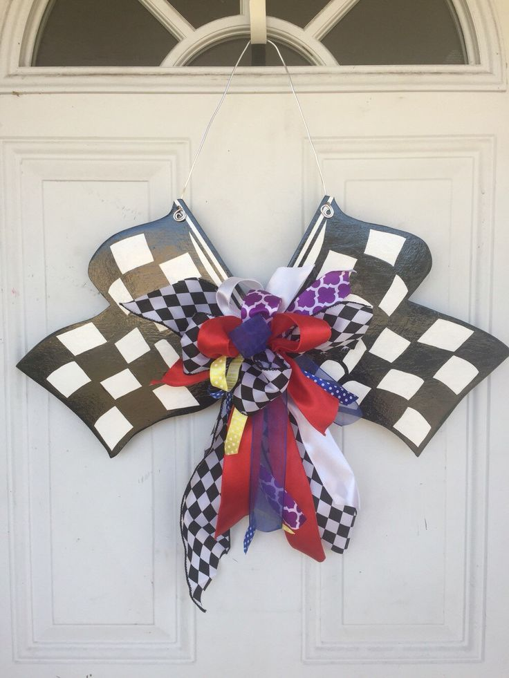 Nascar Door Hanger Nascar Checkered Flag Racing Nascar
