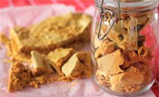 Honeycomb Recipe   This golden honeycomb is a sweet treat to make at home with the kids - as long as you supervise closely! Kids enjoy seeing it froth and bubble to triple its size during cooking.