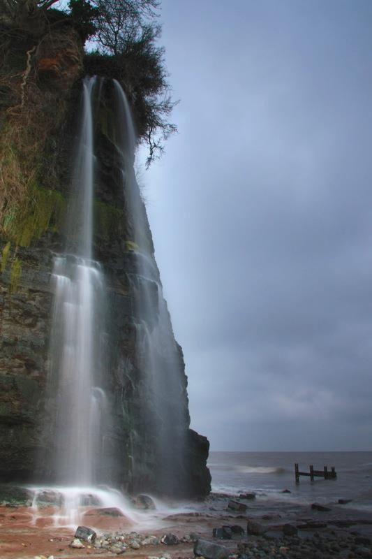 Waterfall by St. Audrie's Bay, Watchet, Somerset