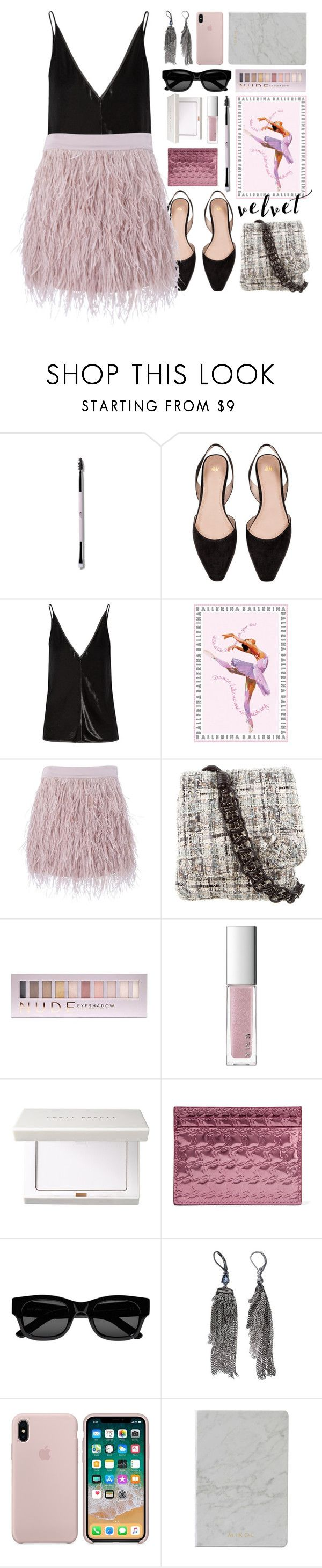 """love ballet"" by foundlostme ❤ liked on Polyvore featuring Gabriela Hearst, SuperTrash, Chanel, Forever 21, RMK, Christian Louboutin, Sun Buddies, Simply Vera, Mikol and velvet"