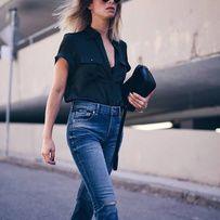 Pinterest : comment porter le jean à la rentrée Avec des mules plates plutôt que des semelles compensées