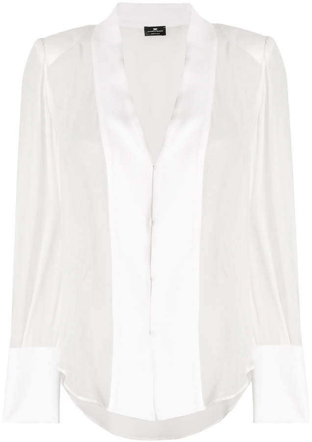 9c88bdf524e Elisabetta Franchi sheer blouse