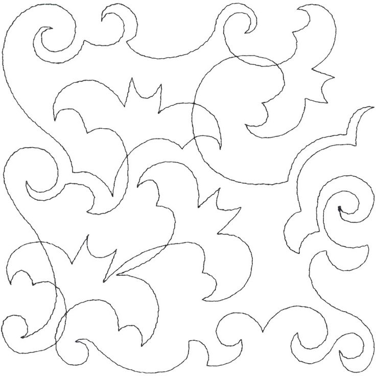 Continuous Line Halloween #embroidery collection of 35 #Halloween #quilting designs