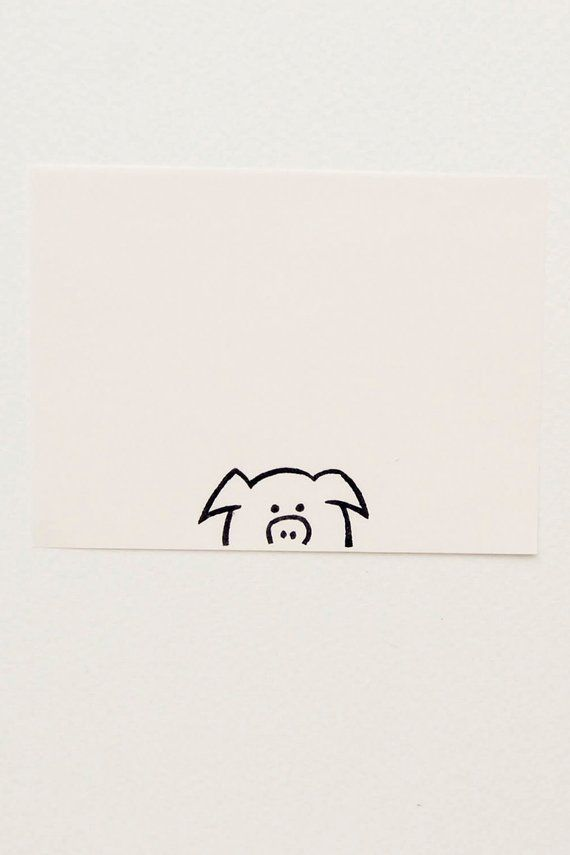 Pig stamp, rubber stamp, animal stamp, small pig, coworker gift, Pig kids gift, gift for best friend, pig birthday gift, stocking stuffer – Julia Orenga