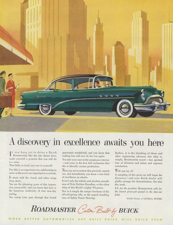 44 best Buick images on Pinterest | Vintage cars, Car advertising ...