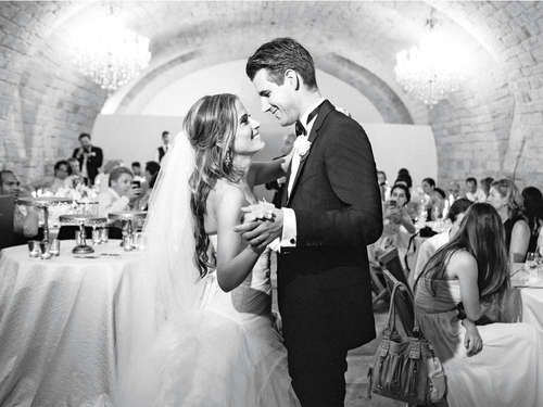 """You can't go wrong with one of these romantic, foolproof first-dance songs. From tried and true oldies, like Etta James's """"At Last,"""" to more modern hits, this list is the perfect starting point for your first-dance song search."""