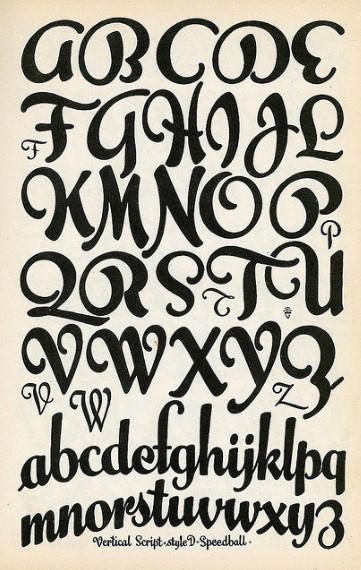 Lettering Fonts Alphabet - I like the loopy natural flow of the curves in the…