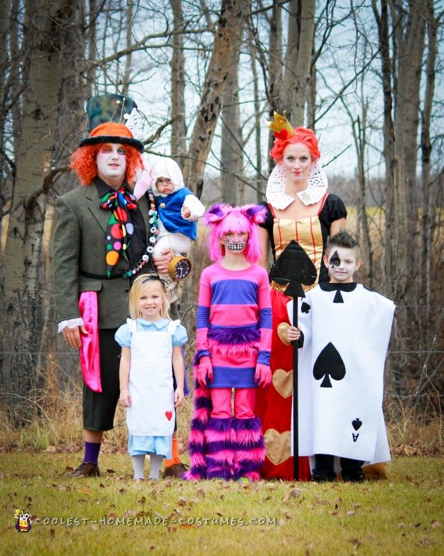 Alice in Wonderland Family Costumes